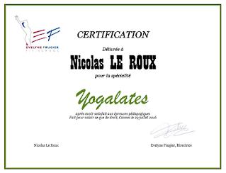 Nicolas Leroux professeur diplômé de Yogalates