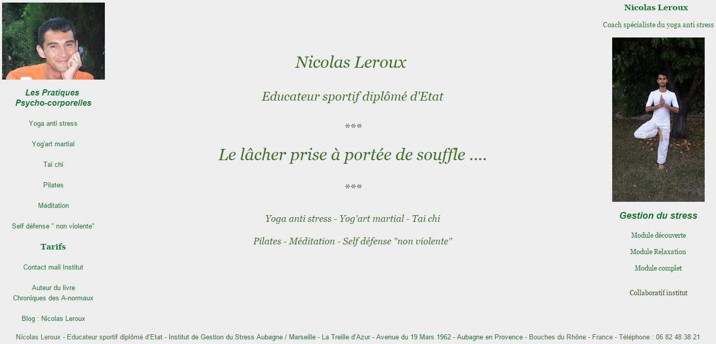Nicolas Leroux Educateur sportif diplômé