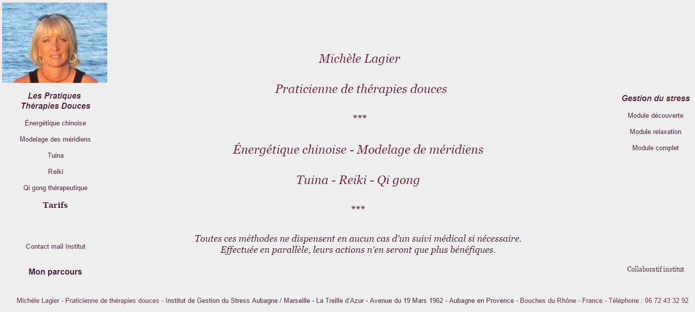 Michèle Lagier Praticienne de thérapie douces